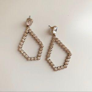 Banana Republic Jeweled Open Statement Earrings